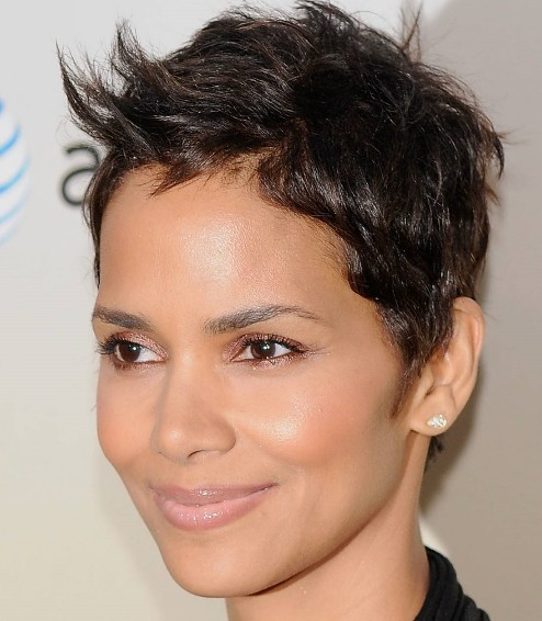 The Diamond Shaped Face like Halle Barry's is narrow at the forehead